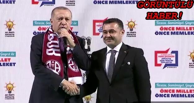 Erdoğan: Alanya'da Adem Murat Yücel'i destekliyoruz