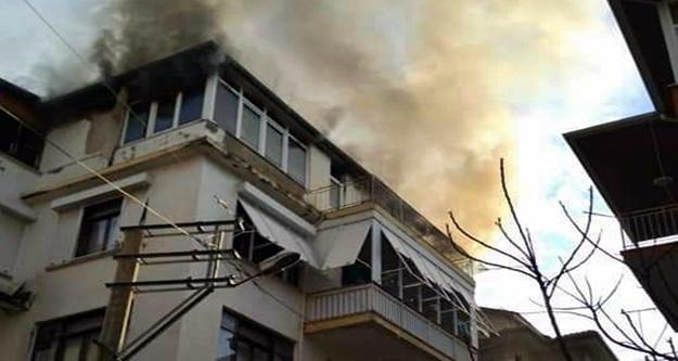 Alanya'da yangın paniği! Üniversite öğrencileri kalıyordu