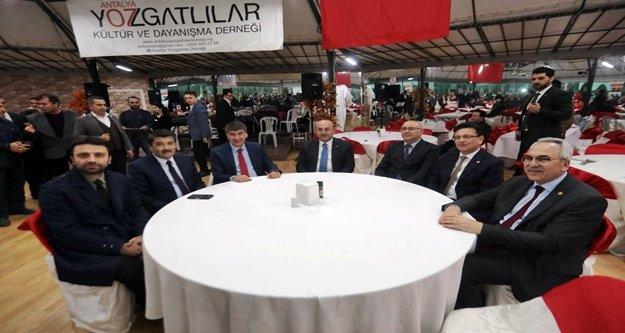 Bakan Çavuşoğlu ve Türel Yozgatlılarla buluştu