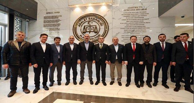 Çavuşoğlu ve Gül Alanya Başsavcısı Emre'yi ziyaret  etti