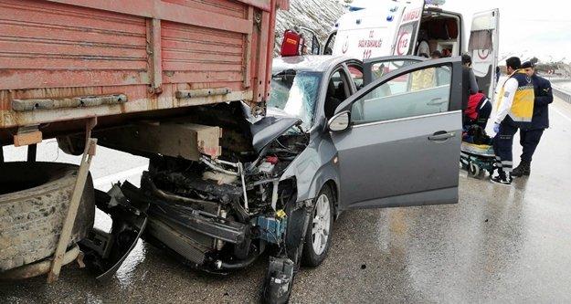 Feci kazada 1 kişi öldü, 4 kişi yaralandı!