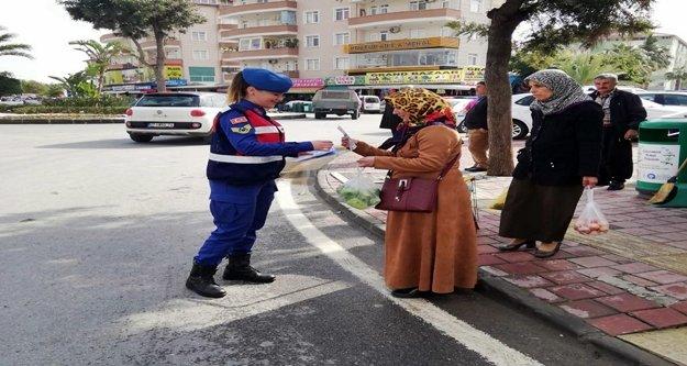 Jandarma Alanya'da yaya önceliği için denetim yaptı