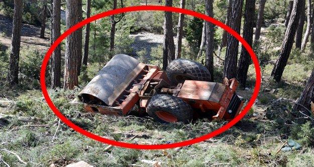 13 tonla uçuruma yuvarlandı! 1 kişi ağır yaralandı