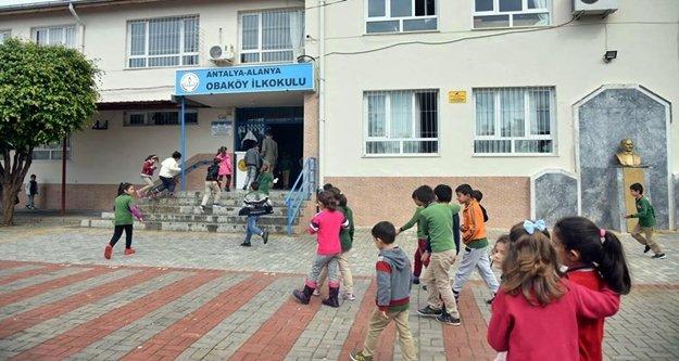 Alanya Oba okullarındaki çocukların yüzü gülüyor