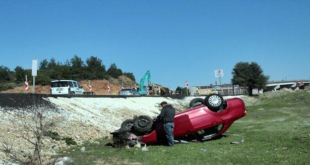 Alanya yolunda feci kaza! 1 kişi yaralandı
