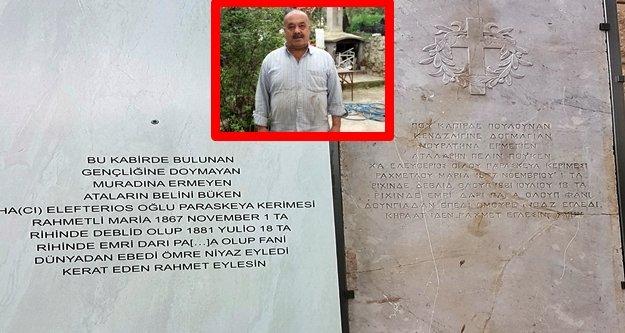 Alanya'daki şeker tezgahı 138 yıllık mezar taşı çıktı