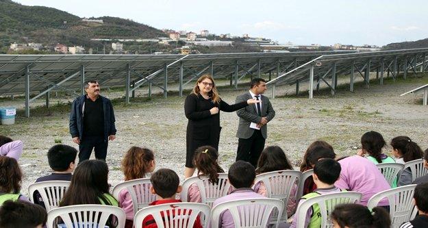 Alanyalı çevreci öğrencilerden GES ziyareti