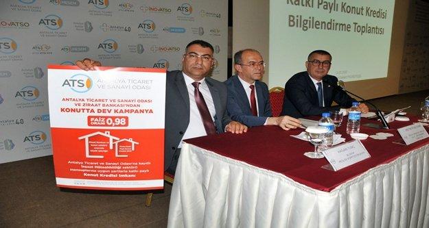 ATSO üyelerine krediyle konut alma müjdesi!