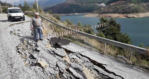 Dikkat: Dim Barajı yolu çöktü!