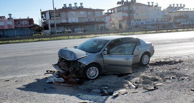 Korkutan kazada 2 kişi yaralandı!