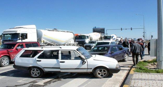Yürekleri ağza getiren kazada 2 kişi yaralandı!