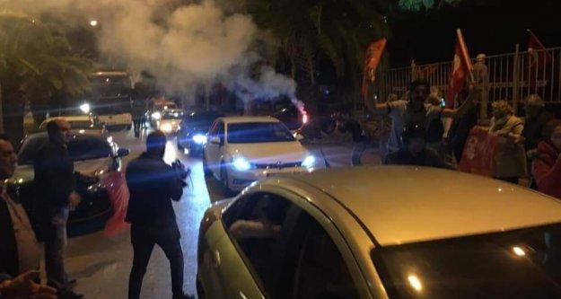 Alanya CHP'den 'Mazbata' konvoyu ve kutlama