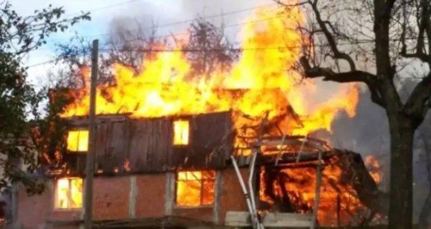 Alanya'da elektrikli soba evde yangın çıkardı