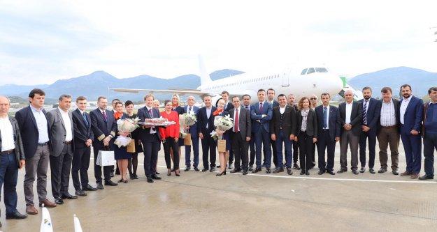 Alanya Gazipaşa Havalimanında Litvanya sevinci