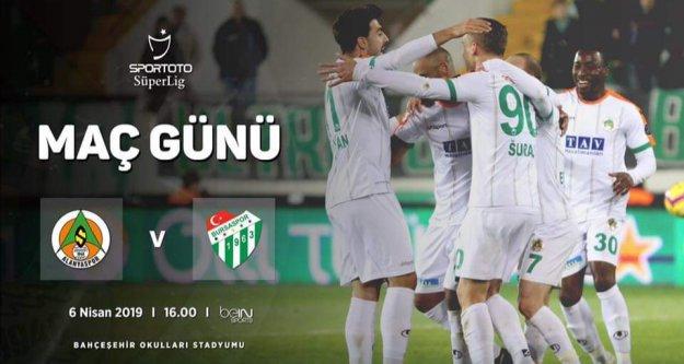 Aytemiz Alanyaspor ve Bursaspor'un 11'leri belli oldu