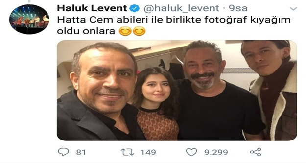 Haluk Levent'ten o Alanyalıya Cem Yılmaz'lı teşekkür