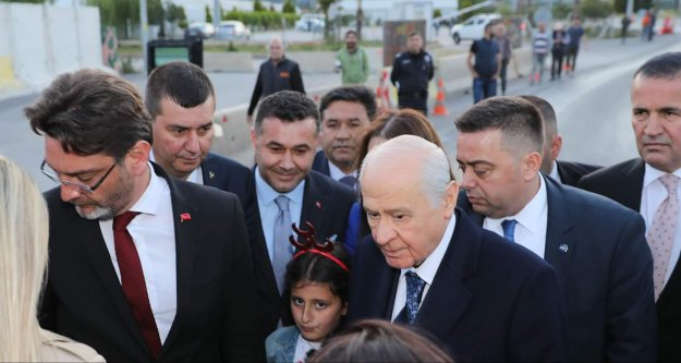 Yücel ve Türkdoğan, Bahçeli'yi karşıladı