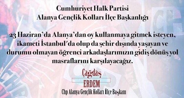 Alanya CHP Gençlik'ten Ekrem İmamoğlu hamlesi