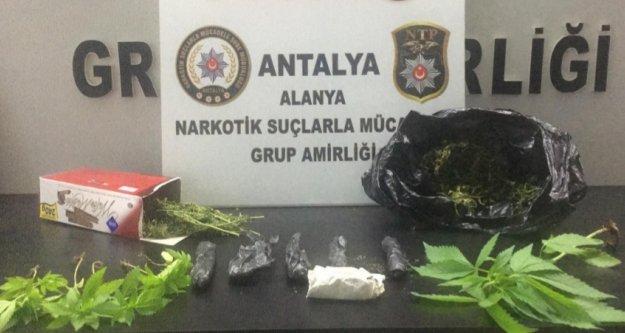 Alanya'da uyuşturucu operasyonu: 1 gözaltı var