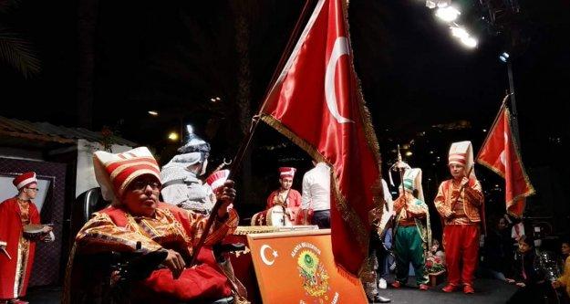Alanya'nın Engelsiz Mehter Takımı ramazan meydanında
