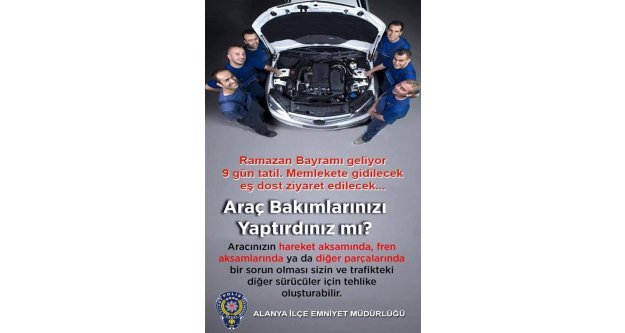 Alanya polisinden tatilcilere önemli uyarı
