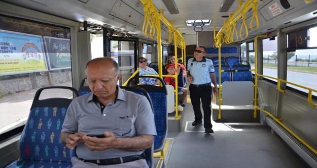 Alanya'da  toplu ulaşım araçları denetlendi