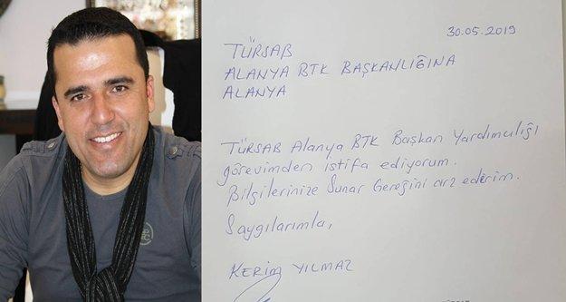 Alanya TÜRSAB'ta istifa şoku