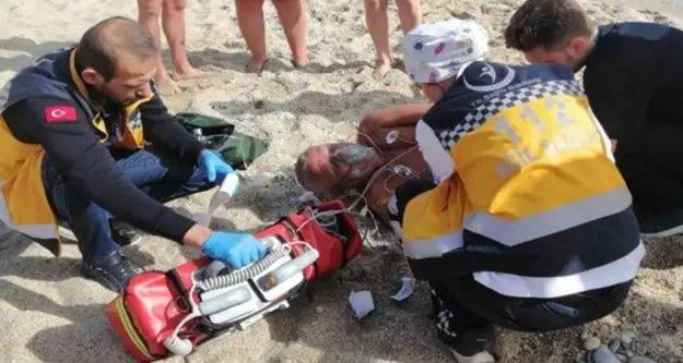 Alanya'da Rus turist son anda böyle kurtarıldı