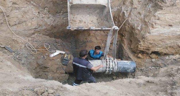 Avsallar'da içme suyu hattına bakım yapıldı