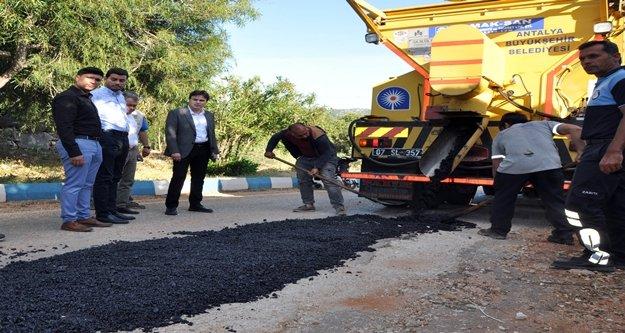 Büyükşehir Belediyesi Demre Üçağız yolunu sezona hazırlıyor