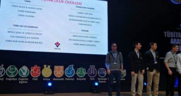 TÜBİTAK'ta Türkiye üçüncülüğü ödülü Alanya'nın