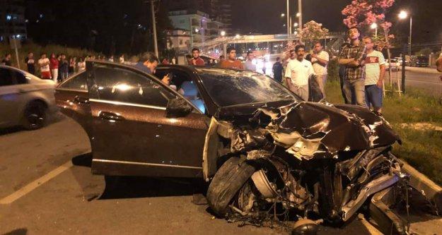 Alanya Çevreyolunda gece feci kaza