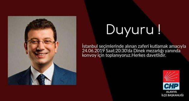 Alanya CHP, Ekrem İmamoğlu zaferini kutlayacak