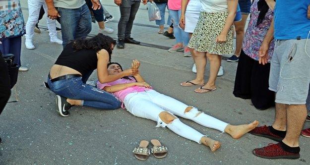 Genç kız, metrelerce savrulup acı içerisinde yere yığıldı