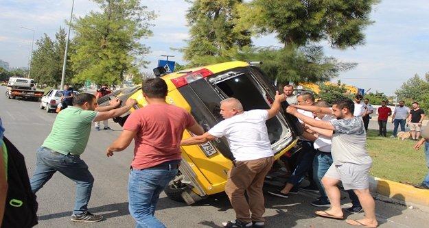 Kazada ters dönen ticari taksiye imece usulü kurtarma