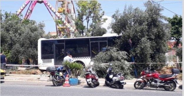 Korkutan resim! Alanya'da halk otobüsünün freni boşaldı