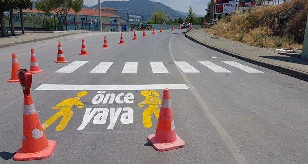 'Önce Yaya' projesi Alanya'da başladı