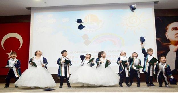 OSB Gündüz bakım evinde mezuniyet sevinci