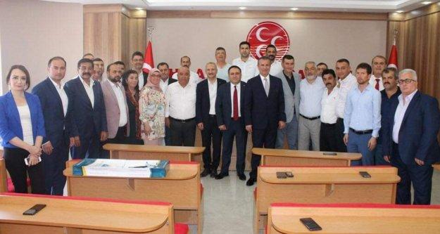 Türkdoğan ilçe başkanları toplantısına katıldı