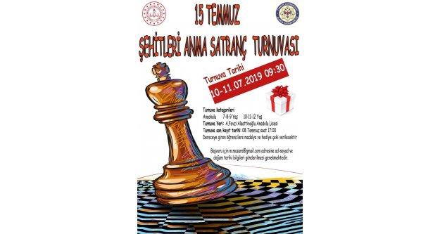 Alanya'da 15 Temmuz Şehitleri Anma Satranç Turnuvası başvuruları başladı