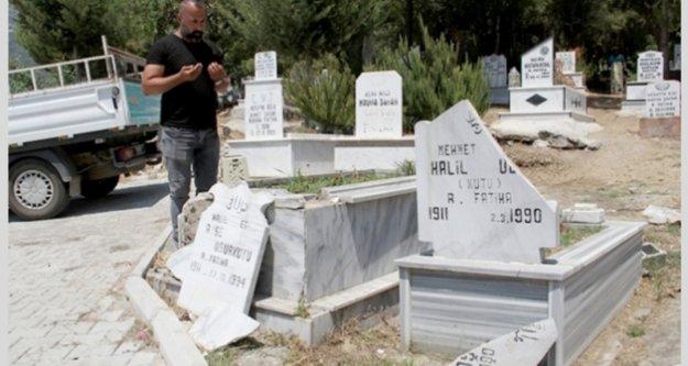 Alanya'da mezar taşı saldırısının sırrı çözüldü
