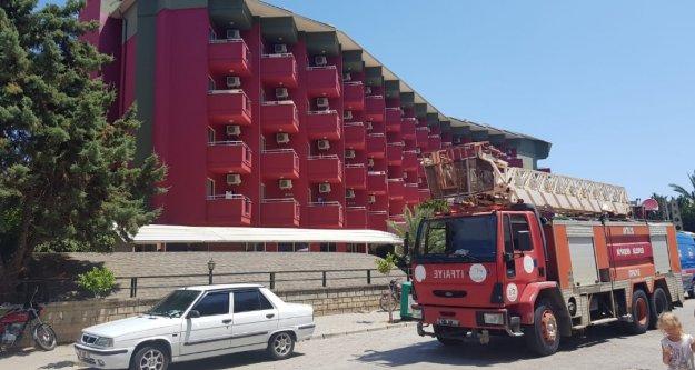 Alanya'da otelde korkutan yangın