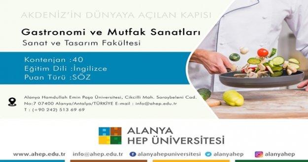 Alanya HEP Üniversitesi Gastronomi ve Mutfak Sanatları öğrencilerini bekliyor!