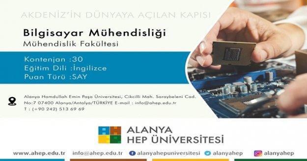 Alanya HEP Üniversitesi'nde, Bilgisayar Mühendisliği Bölümü açıldı!