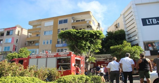Alanya'da ev yangını paniği neden oldu