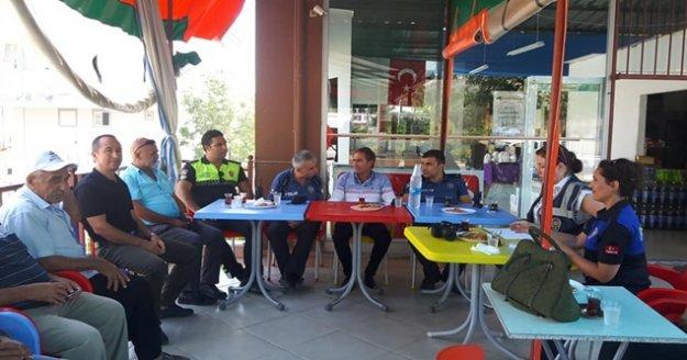 Küçük Hasbahçe mahallesinde huzur toplantısı yapıldı