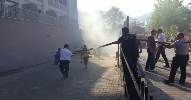 Oteldeki yangın ucuz atlatıldı