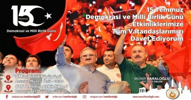 Vali Karaloğlu:' 15 Temmuz Destanını gelecek nesillere aktarmak boynumuzun borcudur'