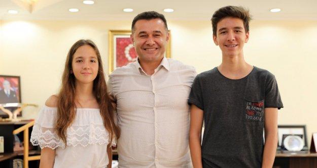 Yücel, Alanyalı Türkiye birincilerini ağırladı