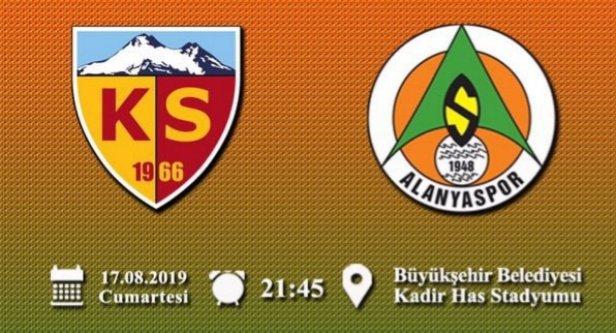 Alanyaspor'un Kayseri 11'i belli oldu